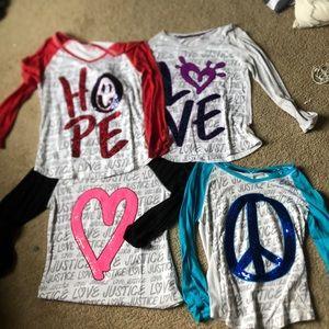 Bundle justice long sleeve shirts size 16